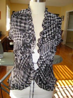 Shrug+ Chiffon =Sweater Refashion #3-4