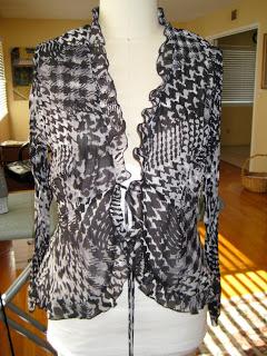 Shrug+ Chiffon =Sweater Refashion #3-6
