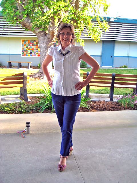 Size 16 to Size 8 Refashioned Blouse1