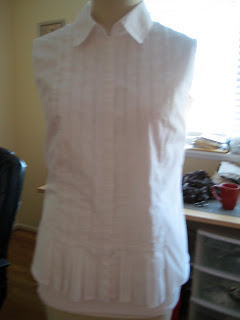 Size 16 to Size 8 Refashioned Blouse7