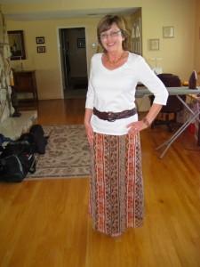 Thrift Shop Slip Dress to Refashioned Maxi Skirt!1