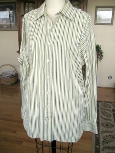 Mens Stripe Shirt Refashion01