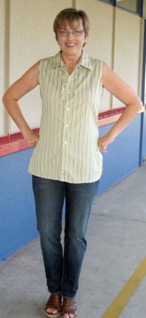 Mens Stripe Shirt Refashion02