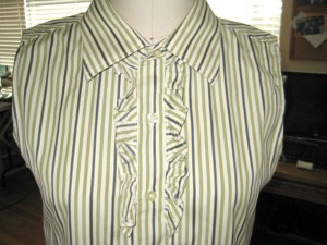 Mens Stripe Shirt Refashion14